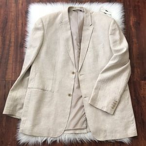 Perry Ellis linen textured blazer.